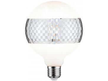 Paulmann LED G125 Ringspiegel Silber glanz kariert E27 2.700K dimmbar