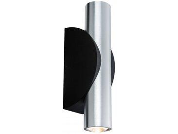 Paulmann Wandaufbauleuchte Special Line Flame rund LED, Alu geb./Schwarz, 2x...
