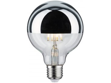 Paulmann LED Retro-Globe 95 6W E27 Kopfspiegel Silber Warmweiß dimmbar