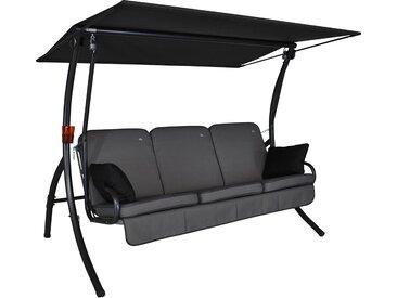 Angerer Hollywoodschaukel Primero Style 3-Sitzer mit Liegefunktion Grau