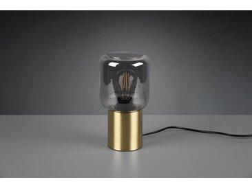 Reality Tischlampe Nico Messing-Rauchfarben