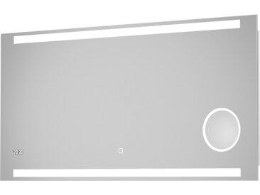 DSK Design LED-Lichtspiegel Silver Rey 120 cm x 60 cm