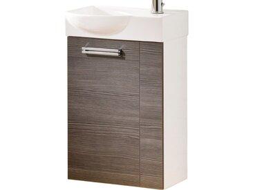 Fackelmann Waschbeckenunterschrank Gäste-WC links 44 cm Como Weiß-Pinie