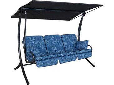 Angerer Hollywoodschaukel Star Santorin 3-Sitzer Blau