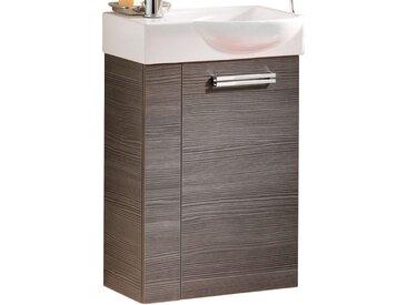 Fackelmann Waschbeckenunterschrank Gäste-WC rechts 44 cm Como Pinie