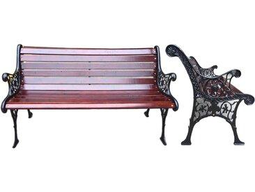 Holz-Gartenbank Versailles 2-Sitzer 70 x 126 x 57 cm