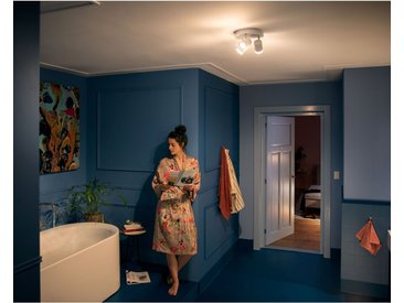 Philips Hue LED-Spot 3er Adore White Ambiance inkl. Dimmer Weiß rund EEK: A