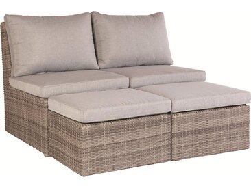 Lounge-Set Zalma 3-teilig aus Polyrattan Sand