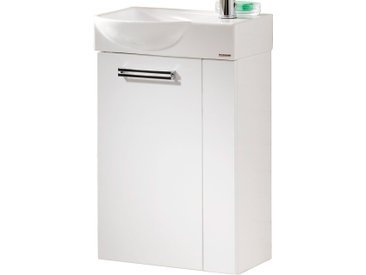 Fackelmann Waschbeckenunterschrank Gäste-WC links 44 cm Como Weiß