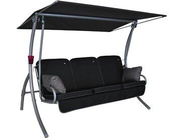 Angerer Hollywoodschaukel Primero Style 3-Sitzer mit Liegefunktion Schwarz