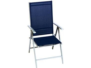 Merxx Klappsessel Amalfi Textilen 5-fach Verstellbar Blau