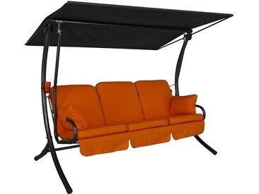 Angerer Hollywoodschaukel Star Detroit 3-Sitzer Orange