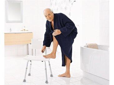 Ridder Badezimmer-Stuhl mit Rückenlehne höhenverstellbar bis 100 kg Weiß