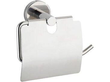 Wenko Toilettenpapierhalter Bosio mit Deckel Edelstahl Glänzend