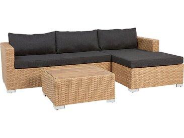 Lounge-Set Studley 3-teilig aus Polyrattan Ausführung Rechts Taupe