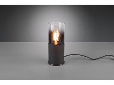 Schreibtischlampe Robin Schwarz matt 1-flammig Metall/Glas E27