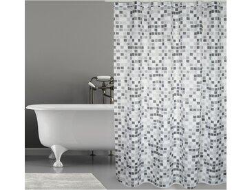 Duschvorhang Mozaik Polyester Grau 180 cm x 200 cm