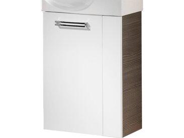 Fackelmann Waschbeckenunterschrank Gäste-WC links 44 cm Como Pinie-Weiß