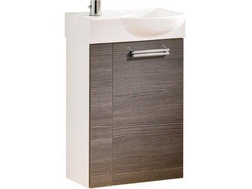 Fackelmann Waschbeckenunterschrank Gäste-WC rechts 44 cm Como Weiß-Pinie