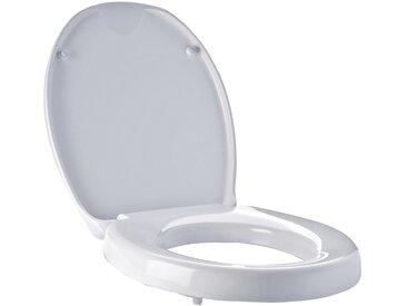 Ridder WC-Sitz Premium mit Erhöhung (55 mm) und Absenkautomatik Weiß