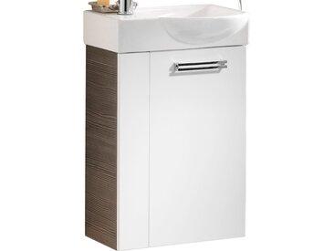 Fackelmann Waschbeckenunterschrank Gäste-WC rechts 44 cm Como Pinie-Weiß