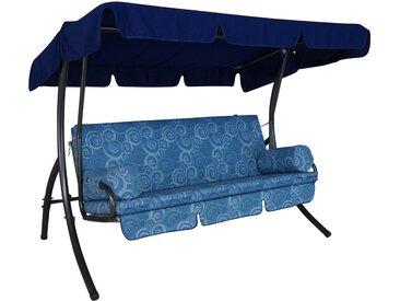 Angerer Hollywoodschaukel Element Santorin 3-Sitzer mit Liegefunktion Blau