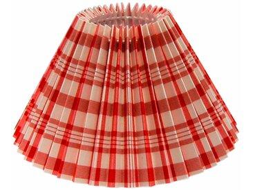 Lampenschirm Karo Trend Plissee Rot-Weiß