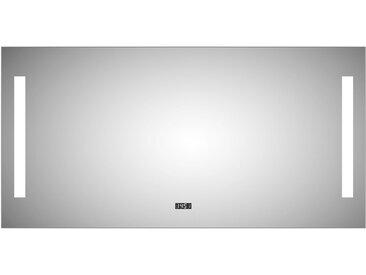 DSK Design LED-Lichtspiegel Silver Time 120 cm x 60 cm