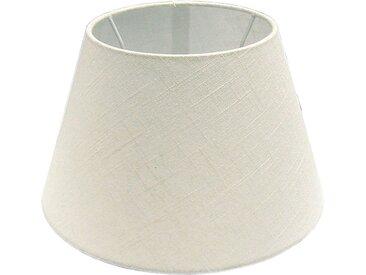 Lampenschirm Leinen Topfform 25 cm Creme