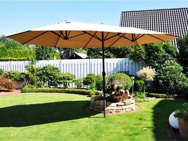 Leco Sonnenschirm Oval 270 cm x 460 cm Beige