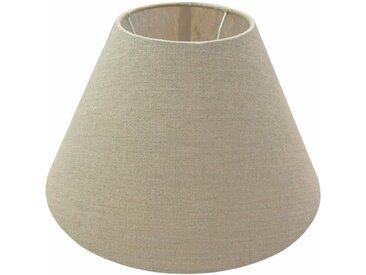 Lampenschirm Leinen Topfform 30 cm Grau
