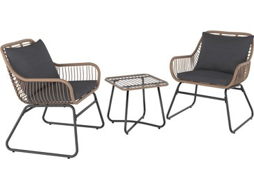 Balkonmöbel-Set Willmar 3-teilig Polyrattan Beige