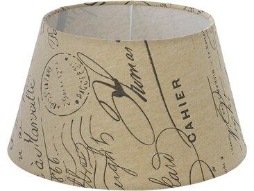 Eglo Lampenschirm 1+1 Vintage Weiß-Braun Ø 25 cm