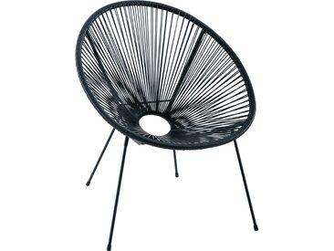 Garten-Sessel Tarong Schwarz Polyrattan
