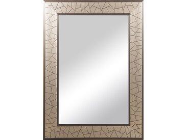 Rahmenspiegel Elisa ca. 50 cm x 70 cm Silber gebürstet
