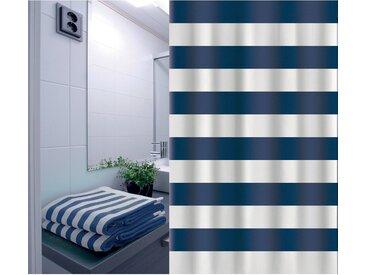 Duschvorhang Marinera 180 cm x 200 cm Blau-Weiß