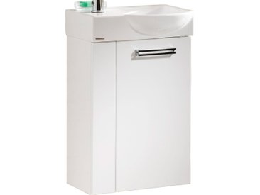 Fackelmann Waschbeckenunterschrank Gäste-WC rechts 44 cm Como Weiß