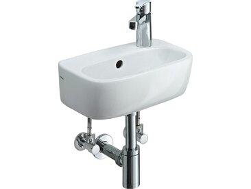 Handwaschbecken 36 cm Weiß mit Armatur