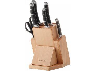 Lunasol - Messerset mit Holzständer, Schären und Schleifer - Flow Kitchen (132760)