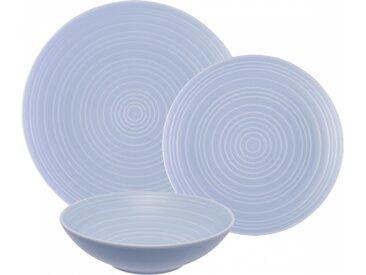 Lunasol - Porzellan-Set hellblau matt 18 tlg. - Gaya RGB Spiral (w0021)
