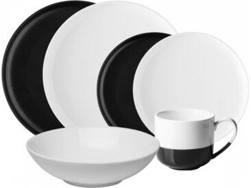 Lunasol - Porzellan-Set schwarz / weiss 8 tlg. - Flow (491075)