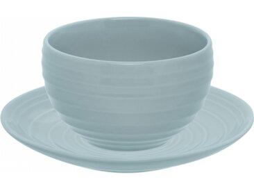 Lunasol - Frühstücks-Set Vintage Blau gloss 12 tlg. - Gaya RGB Spiral (w0011)