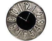 Metall-Uhr Schwarz 61cm | Industrielle Wanduhren