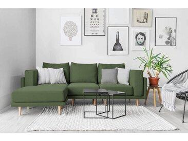 Modulares Scandi Style Sofa CLOOODS, grün, 247cm breit