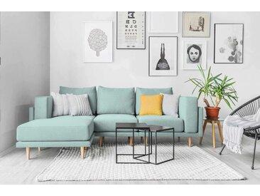 Modulares Scandi Style Sofa CLOOODS,mint grün türkis, 247cm breit