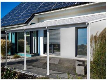 Home Deluxe Terrassenüberdachung SOLIS - 312 x 303 x 226 / 278 cm Weiß