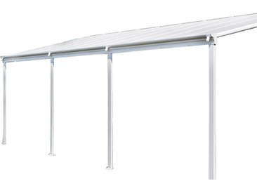 Home Deluxe Terrassenüberdachung SOLIS - 495 x 303 x 226 / 278 cm Weiß