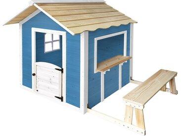 Home Deluxe Spielhaus - Der große Palast / Blau mit Bank