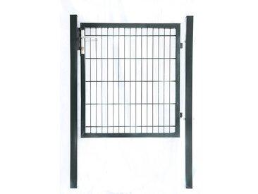 Home Deluxe Doppelstabmatten Gartentor anthrazit  - Gartentor - Höhe: 1600 mm