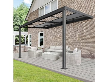 Home Deluxe Terrassenüberdachung Deluxe V1 300 x 300 x 218 / 272 cm (grau)